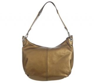 Isaac Mizrahi Live Pebble Leather Mesh Handle Hobo   A210061