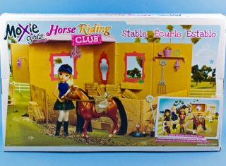 Moxie Girlz Horse Riding Club Stable Pony Horse 15 Pieces Playset Barn