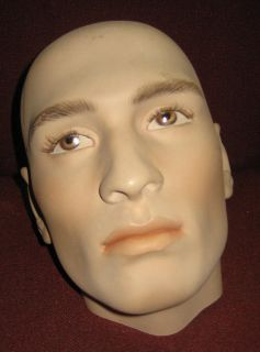 Real Nice Vintage Male Hindsgual Mannequin Life Size Head