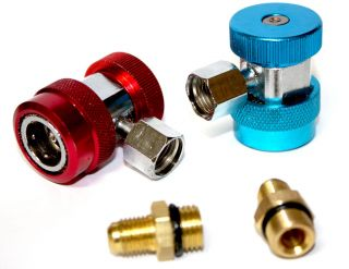 R134a Quick Coupler Adapters Connector A C Air Condition Manifold