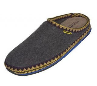 Deer Stags Indoor/Outdoor Fleece Slippers w/Rubber Soles —