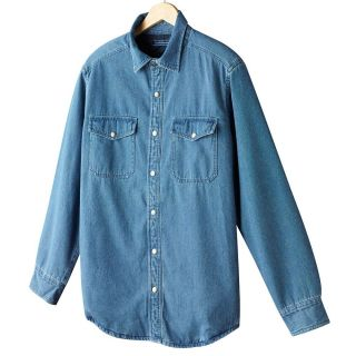 Croft Barrow Blue Denim Quilt Shirt Jacket Mens Lt and XLT $70 NWT
