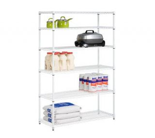 Honey Can Do 6 Tier White Steel Commercial Grade Shelving Unit