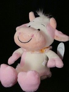 Cute Pink Plush Cow Stuffed Animals Valentines Day Gift