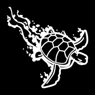 Turtle Vinyl Car Window Decal Bumper Sticker