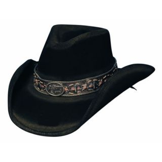 Bullhide Black Weathered Cowboy Hat Billy The Kidd