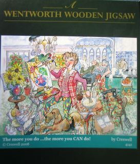 500 Piece Wooden Jigsaw Puzzle The More You do by Creswell