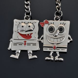 Lovely A Couple of Sponge Bob keyring keychain keyfob metal key chains