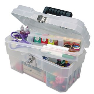 Akro Mils Craft Art Storage Tool Box Clear New 14