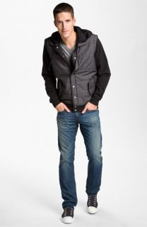 RVCA Jacket, Alternative T Shirt & True Religion Brand Jeans Straight Leg Jeans