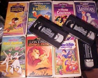 Lot of 10 Walt Disney Animated VHS Feature Films