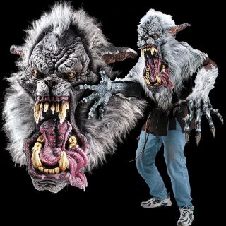 Huge Extreme Adult Werewolf Halloween Mask Wolf Costume