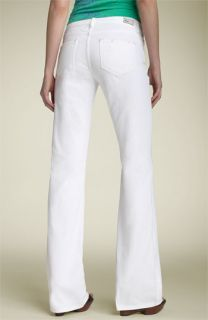 Paige Denim Hollywood Hills Bootcut Stretch Jeans (Optic White)
