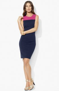 Lauren Ralph Lauren Colorblock Sheath Dress (Petite)