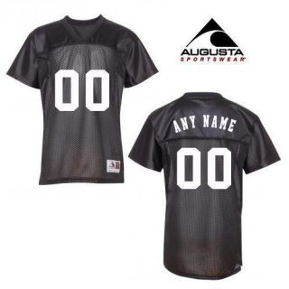 GIFT FOR GIRLS BLACK Custom Football V Neck Jersey Add Name & Number