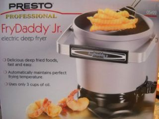 Presto Professional Fry Daddy Jr Electric Deep Fryer 05422 New in Box