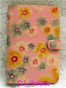 Leather Diary Book Daily Planner Organizer Pink Daisy