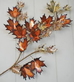 Curtis Jere Autumn Leaves Sculpture Mid Century Modern Wall Art C Jere