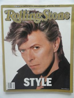 DAVID BOWIE ROLLING STONE APRIL 23, 1987 STYLE ISSUE 20TH ANNIVERSARY