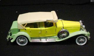 Franklin Mint 1930 Duesenberg J Derham Tourster 1 24 Scale Model Car