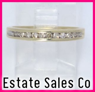 Yellow Gold Round Diamond Anniversary Wedding Ring 24 Carats
