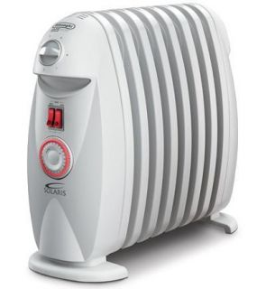 DELONGHI OIL FILLED ELECTRIC RADIATOR HEATER WHITE SPACE HEATING