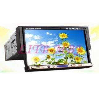 LCD Touchscreen 1 DIN Car DVD Player Stereo Radio FM Am