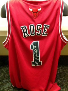 Derrick Rose Signed Chicago Bulls Red Jersey w/MVP 11 (JSA COA)