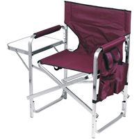 Directors Chair Camping Heavy Duty Aluminum Burgendy Chair