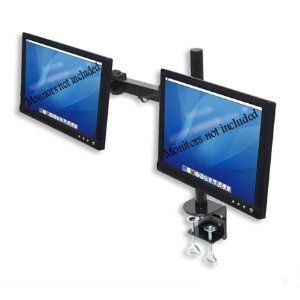 Dual LCD Monitor Stand desk clamp holds up to 24 lcd monitors