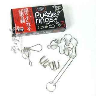 Chinese Puzzle Nine Linked Ring Series Puzzle Rings 3