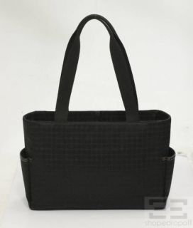 kate spade black logo canvas diaper tote bag