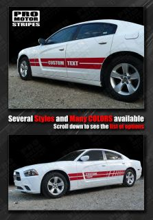 Dodge Charger Rally Sport Mid Body Side Stripes 2011 2012 2013 Decals