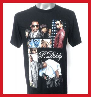 Diddy Hip Hop T Shirt Black Size Medium