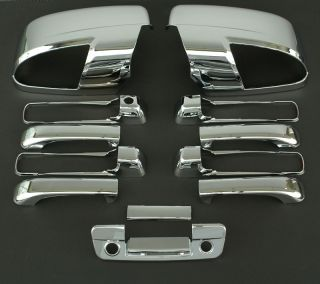 2009 2011 Dodge RAM 5D Chrome Door Mirror Tailgate Handle Cover