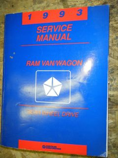 1993 Dodge RAM Van Wagon Factory Service Manual Shop Repair