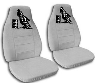 Gorgeous Barrel Racing Design Car Seat Covers Silver