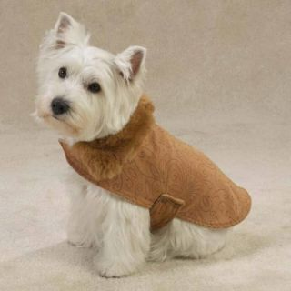 Faux Suede Dog Coat Clothes Jacket Shirt Chihuahua