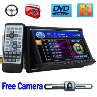 For Xmas 7 in Dash 2 DIN Car DVD Player Touchscreen Radio Stereo Back