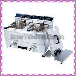Double Deep Fryer Heavy Duty Stainless 208V 3250W New