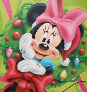 Disney Minnie Mouse Girls Christmas x mas Gift Wrapping Paper Wrap