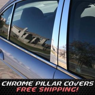 09 11 Dodge Journey Chrome B Pillar Door Covers Post Window Mirror