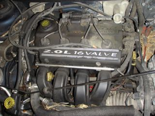 2000 Dodge Neon 2 0 Engine Vin Code C w Out EGR