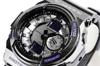 Casio G Shock Metallic Black 3 D Design Digital Mens Sport Watch