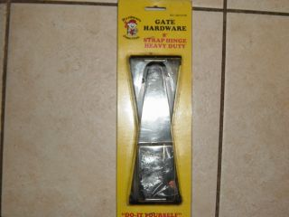 "1 PR 8"" Heavy Duty Gate Strap Hinges Black"