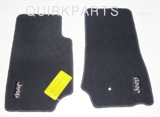 2007 2011 Jeep Wrangler 2 Door Floor Mats Front Dark Slate Gray Mopar