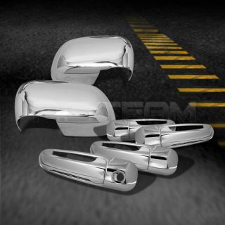 04 09 Durango 05 09 Dakota 4DR Chrome Door Handle Side Mirror Covers