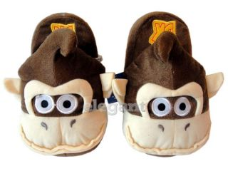 Nintendo Super Mario Bro Donkey Kong Kids Plush Slipper