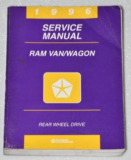 1996 DODGE RAM VAN & WAGON B 1500 2500 3500 Dealer Shop Service Repair