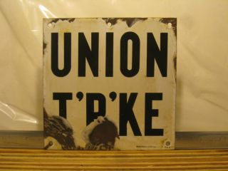 NYC New York Porcelain Subway Station Sign Union Turnpike